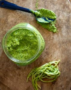 Kale Pesto.  Instead of walnuts substitute almonds or cashews for an even more lactogenic boost.