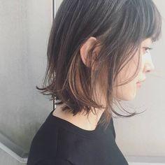 Medium Hair Styles, Long Hair Styles, Hair Arrange, Short Bob Hairstyles, Korean Girl, Hair Color, Hair Beauty, Makeup, Women
