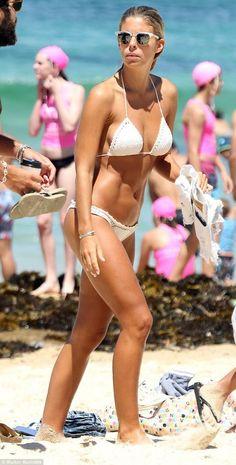 Natasha Oakley in #crochet bikini