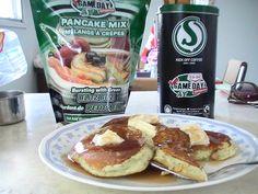 Rider pancakes with green blitz bits and Kick Off coffee. Go Rider, Saskatchewan Roughriders, Crepes, Pancakes, Kicks, Fan, Coffee, Breakfast, Kaffee