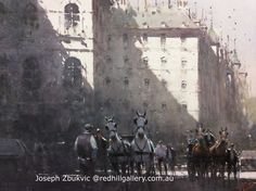 """Joseph Zbukvic, Red Hill Gallery, Brisbane. Watercolour Painting, 'Afternoon in Vienna"""". redhillgallery.com.au Art Gallery, Artist Painting, Joseph Zbukvic, Joseph, Painting, Traditional Ink, Traditional Paintings, Art, Representational Art"""