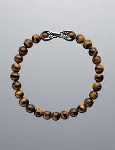 David Yurman Men Bracelets: 8mm Tiger's Eye Spiritual Bead Bracelet