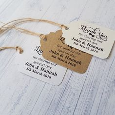Your place to buy and sell all things handmade Wedding Favor Tags, Wedding Thank You, Best Day Ever, Personalized Wedding, Special Day, Dog Tag Necklace, Card Stock, Wedding Venues, Wedding Decorations