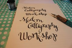Learn Modern Calligraphy with this free printable guide and video tutorial.