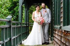 Rustic Newport Rhode Island. Wedding day portrait at Castle Hill Inn.