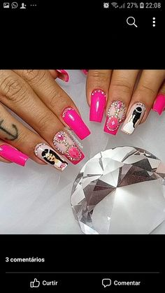 Nails, Painting, Beauty, Finger Nails, Silhouettes, Ongles, Painting Art, Nail, Cosmetology