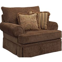 Attractive The Helena Skirted Chair And A Half Provides A Large Seating Surface With  Large, Rolled