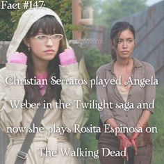 She was also on the nick show Ned's Declassified School Survival Guide as Suzy Crabgrass Twilight Saga Series, Twilight Cast, Twilight Series, Twilight Stars, Bella Und Edward, Walking Dead Facts, Wierd Facts, Little Do You Know, Digital Film