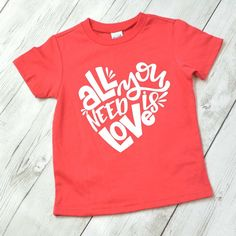 All you need is love shirt for kids, Valentine shirt, Valentine shirt for girls, kids Valentine shirt, Valentine shirt for kids by ShopHartandSoul on Etsy https://www.etsy.com/listing/490072470/all-you-need-is-love-shirt-for-kids