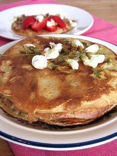 Tomate sans graines: Pancakes aux fleurs d'acacia