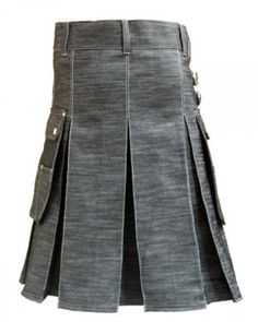 Denim Kilt for Stylish Men #Stylish_kilts #Denim_kilts #kilts_for_sale