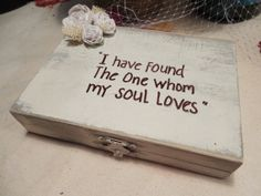 Southern Chic, Wedding Ring Pillow, Ring Bearer Box, We Do Box,  which will be perfect to hold your rings that special day. via Etsy