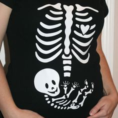Inspire Your Walls - Iron On Pregnancy Skeleton Decal