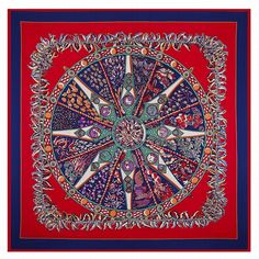 eb6f601bbc5d  POBING 100% Twill Silk NecKerchief Boho Style Ethnic Square Scarves For  Woman Luxury Brand Rose Floral Compass Foulard Scarf