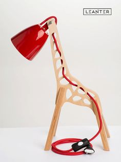 lampara-infantil-jirafa-rojo