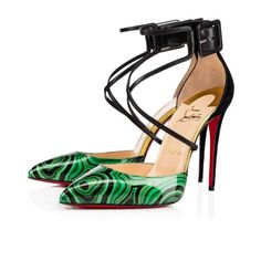 Women Shoes - Suzanna Patent Malachite - Christian Louboutin