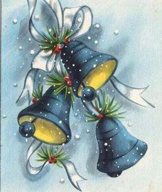 69 Ideas for painting christmas navidad Vintage Christmas Images, Retro Christmas, Vintage Holiday, Christmas Pictures, Christmas Art, Vintage Greeting Cards, Christmas Greeting Cards, Christmas Greetings, Vintage Postcards