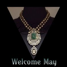 Emerald, the birthstone of May radiates a beautiful vivid tone. They are considered to be a symbol of rebirth and love...  Deck your neck with NLJ's statement necklace ... Big and bold ; the new style mantra