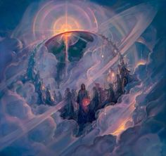 The Ainur sing a vision of Arda to come. Art by John Pitre.