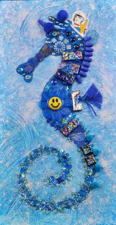 Blue Seahorse With Speed Racer by lalainyastream on Etsy, $1000.00
