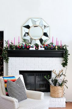 Pop Of Cheer - How To DIY Your Holiday Mantel - Photos