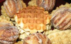 Faguri Romanian Desserts, Romanian Food, Romanian Recipes, Easy Desserts, Waffles, Biscuits, Sweet Treats, Good Food, Easy Meals