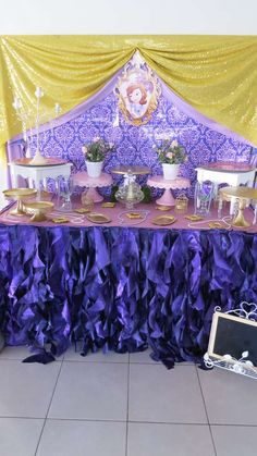 Pretty purple Sofia the First birthday party! See more party ideas at CatchMyParty.com & 304 best Sofia the First Party Ideas images on Pinterest ...