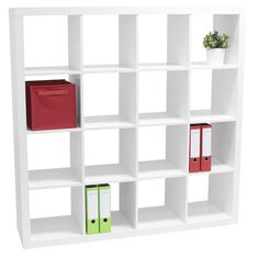 Malmo 16 cube bookcase white - i love these for album storage and craft supplies White Bookshelves, Cube Bookcase, Bookcases, Home Beauty Salon, My Workspace, Furniture Decor, Storage Spaces, Shelving, Craft Supplies
