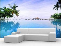 Aliexpress.com: Comprar Papel de parede minimalista moderno paisaje de la playa mural TV telón de fondo papel pintado 3d del envío gratis tamaño personalizar 2104ky de fondo de pantalla del muñeco de nieve fiable proveedores en Wallpaper CO.,LTD.