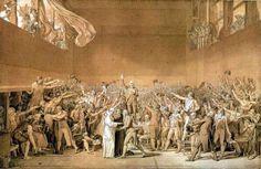 Serment du Jeu de Paume (dessin) - 1791  Jacques-Louis David (1748-1825)  Château de Versailles  101 x 66 cm