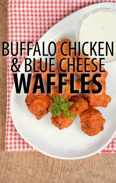 There's no wrong way to make a waffle. Try this wing-inspired Buffalo Chicken Blue Cheese Biscuit Waffles Recipe from Rachael Ray and her Waffle Week team. http://www.recapo.com/rachael-ray-show/rachael-ray-recipes/rachael-ray-buffalo-chicken-blue-cheese-biscuit-waffles-recipe/