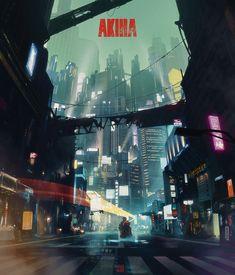 Akira by Hideyoshi.★ We recommend Gift Shop: http://gosstudio.com ★ #Cyberpunk #Art #gosstudio
