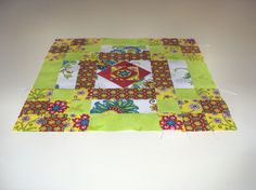 """A traditional block pattern called """"Cheese Box."""" Pieced by Pam Wilson in October 2014."""
