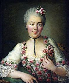 François-Hubert Drouais, Ritratto di dama probabilmente Madamoiselle Dorè, 1765.