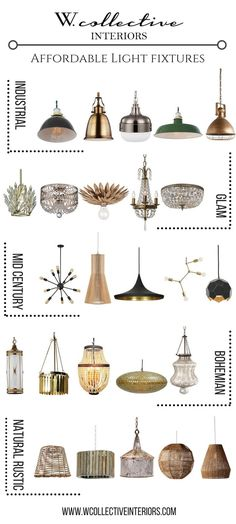 styles of lighting. updating with affordable light fixtures styles of lighting