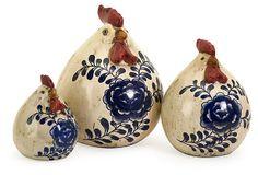 S/3 Scandinavian Chickens on OneKingsLane.com