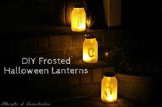 Mason jar Halloween lanterns via @aadomestication | DIY Halloween Decor