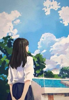 59 Ideas For Art Drawings Girl Korean Anime Scenery Wallpaper, Cartoon Wallpaper, Aesthetic Art, Aesthetic Anime, Korean Art, Cartoon Art Styles, Anime Art Girl, Cute Drawings, Cute Art