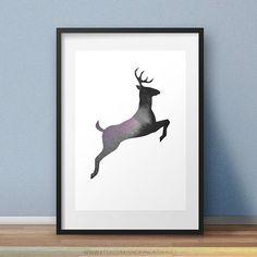 Galaxy Deer. Photo Edit Digital Download