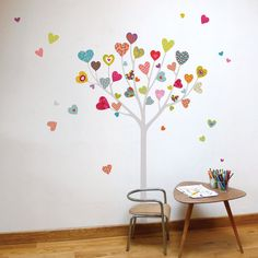 How adorable is this? Heart Tree kid wall sticker by miaandcoADzif on Etsy, $35.00