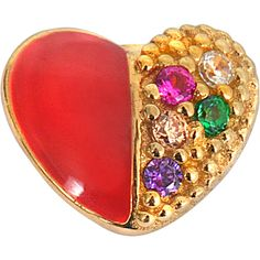 Marc Jacobs Rainbow heart single stud ($21) ❤ liked on Polyvore featuring jewelry, earrings, red, red earrings, marc jacobs jewellery, red heart jewelry, marc jacobs jewelry and heart stud earrings