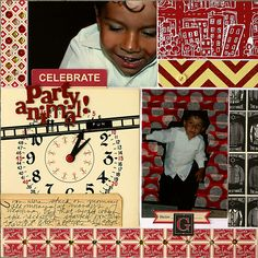 Scrapbook page with the color red | GetItScrapped.com/blog