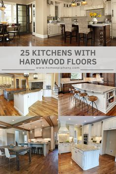 Luxury Kitchen See 25 kitchens with stunning hardwood floors Best Home Interior Design, Boutique Interior Design, Luxury Kitchen Design, Best Kitchen Designs, Luxury Kitchens, Cool Kitchens, Kitchen Cabinets And Countertops, Kitchen Countertop Materials, Hardwood Floors In Kitchen
