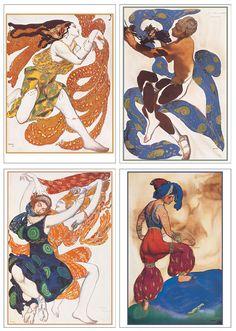 Art of the Ballets Russes: Léon Bakst Boxed Notecards