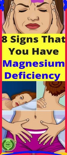 8 sign that you have magnesium deficiency
