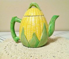 Corn Teapot by AsTimeGoesByVintage on Etsy, $14.00