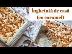 ÎNGHEȚATĂ CU CARAMEL și nuci caramelizate || 🍦 DULCINELE 🍦 - YouTube Caramel, Bread, Youtube, Food, Food Items, Sticky Toffee, Candy, Brot, Essen