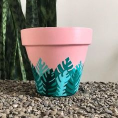 TY For Being a Friend Unique Terra Cotta Succulent & Flower Pot Art, Flower Pot Design, Flower Pot Crafts, Painted Plant Pots, Painted Flower Pots, Painted Pebbles, Hand Painted, Diy Vintage, Decorated Flower Pots