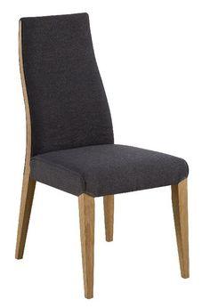 Bernhard+Spisebordsstol+-+Grå+-+Lækker+og+behagelig+spisebordsstol+i+grå.+Siddekomforten+er+i+top,+ligesom+designet,+takket+være+de+elegante+ben+i+massiv+eg.