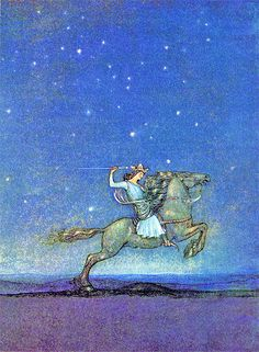 Once Upon a Time--John Bauer--Vintage Illustration